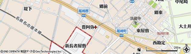 愛知県安城市尾崎町(豊阿弥)周辺の地図