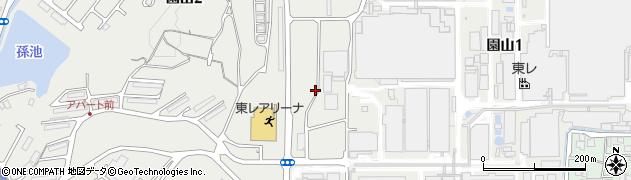 滋賀県大津市園山周辺の地図