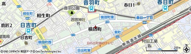 静岡県静岡市葵区横田町周辺の地図