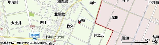 愛知県安城市柿碕町周辺の地図