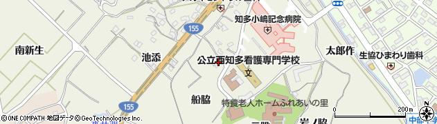 愛知県知多市新知(船脇)周辺の地図