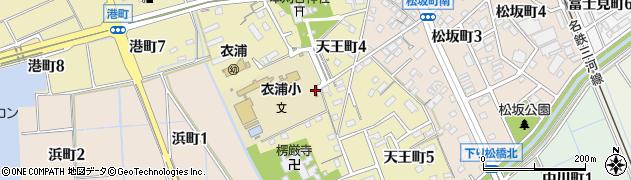 愛知県刈谷市天王町周辺の地図