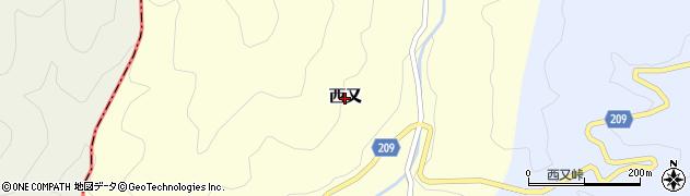 静岡県静岡市葵区西又周辺の地図