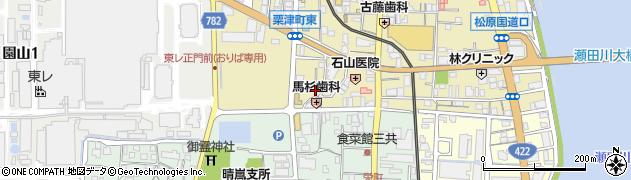 滋賀県大津市粟津町周辺の地図
