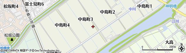 愛知県刈谷市中島町周辺の地図