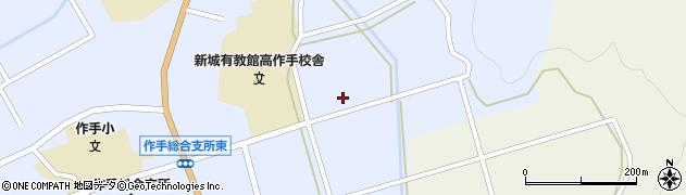 愛知県新城市作手高里(上ノ郷)周辺の地図