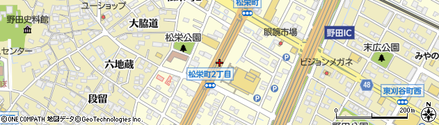 愛知県刈谷市松栄町周辺の地図