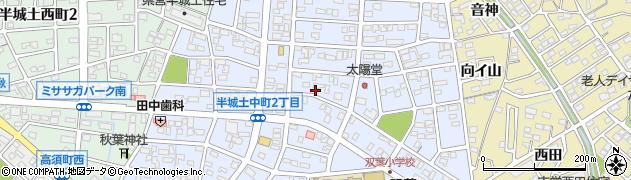 愛知県刈谷市半城土中町周辺の地図