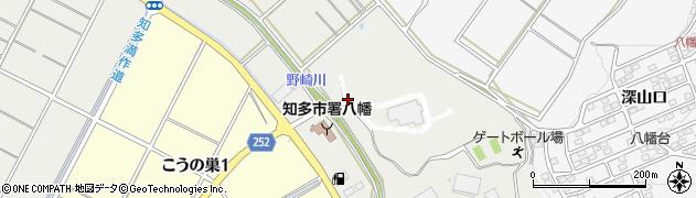 愛知県知多市三反田周辺の地図