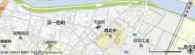 天聖院周辺の地図