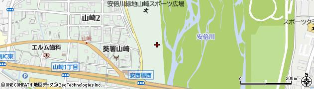 静岡県静岡市葵区山崎周辺の地図