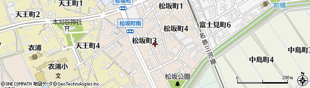 愛知県刈谷市松坂町周辺の地図