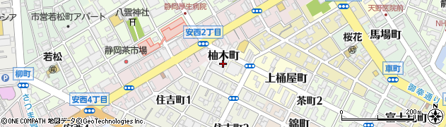 静岡県静岡市葵区柚木町周辺の地図