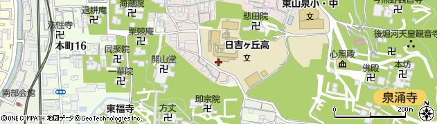 京都府京都市東山区今熊野悲田院山町周辺の地図
