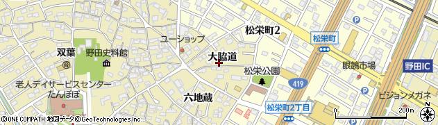 愛知県刈谷市野田町(大脇道)周辺の地図