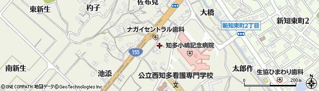 愛知県知多市新知(永井)周辺の地図