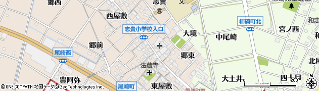 愛知県安城市尾崎町(北屋敷)周辺の地図