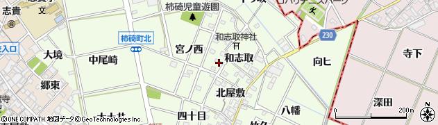 愛知県安城市柿碕町(宮前)周辺の地図