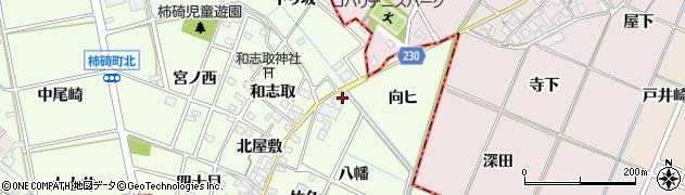 愛知県安城市柿碕町(八幡)周辺の地図