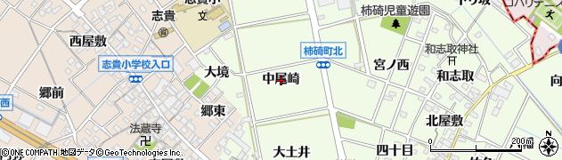愛知県安城市柿碕町(中尾崎)周辺の地図