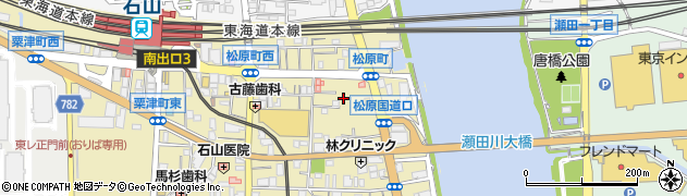 滋賀県大津市松原町周辺の地図