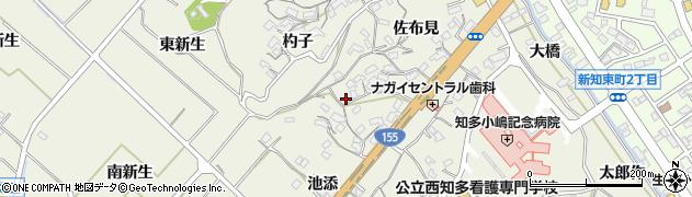 愛知県知多市新知(佐右坂)周辺の地図