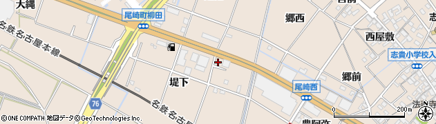 愛知県安城市尾崎町(堤下)周辺の地図