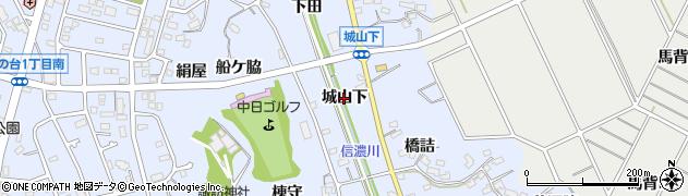 愛知県知多市佐布里(城山下)周辺の地図