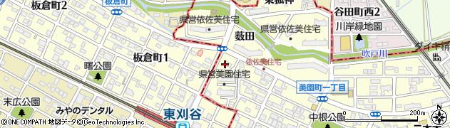 愛知県安城市美園町(時ケ堀)周辺の地図