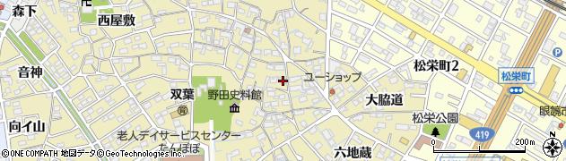 愛知県刈谷市野田町(東屋敷)周辺の地図