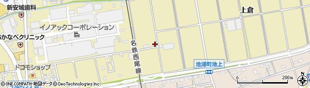 愛知県安城市今池町(上倉)周辺の地図