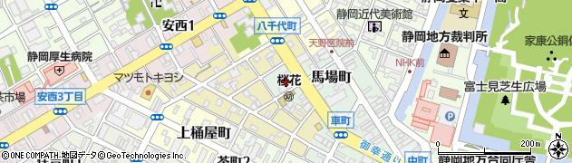 静岡県静岡市葵区馬場町周辺の地図
