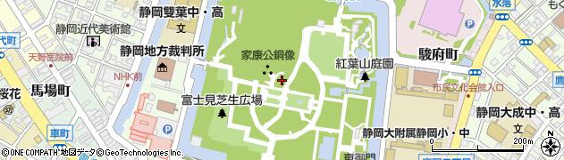 静岡県静岡市葵区駿府城公園周辺の地図