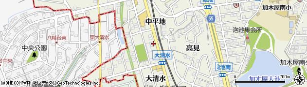喜代周辺の地図