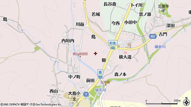 〒666-0215 兵庫県川辺郡猪名川町島の地図