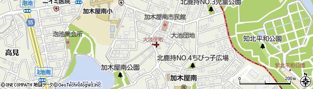 愛知県東海市加木屋町(北鹿持)周辺の地図