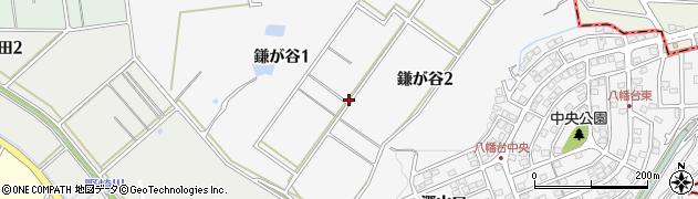 愛知県知多市鎌が谷周辺の地図