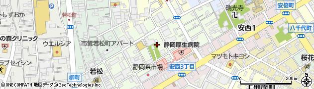 静岡県静岡市葵区北番町周辺の地図