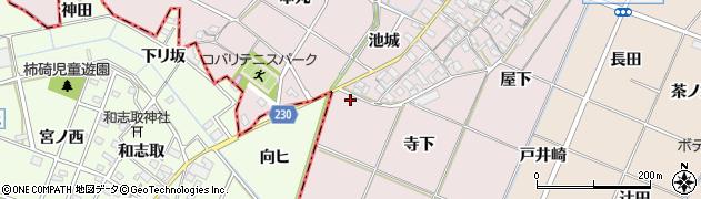 愛知県岡崎市小針町(寺下)周辺の地図