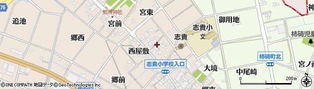 愛知県安城市尾崎町(市場屋敷)周辺の地図