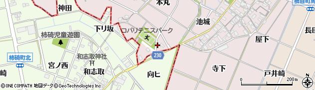 愛知県岡崎市小針町本丸周辺の地図