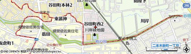 愛知県知立市谷田町西周辺の地図
