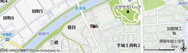 愛知県刈谷市高須町(啻山)周辺の地図