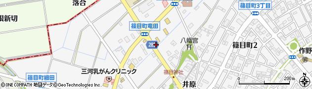 愛知県安城市篠目町(竜田)周辺の地図