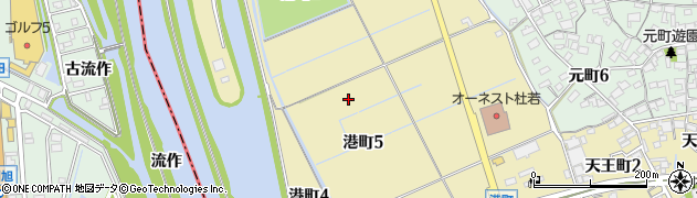 愛知県刈谷市港町周辺の地図