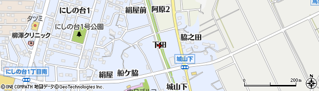 愛知県知多市佐布里(下田)周辺の地図