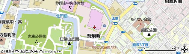 静岡県静岡市葵区駿府町周辺の地図