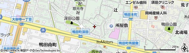 愛知県岡崎市鴨田町(猿堂)周辺の地図