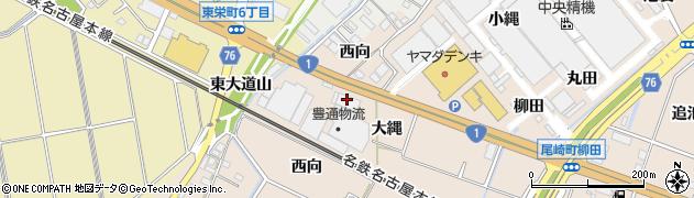 愛知県安城市尾崎町(大縄)周辺の地図