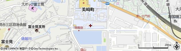 滋賀県大津市美崎町周辺の地図